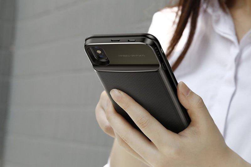 Etui Baseus ładowarka QI i Power Bank iPhone XS