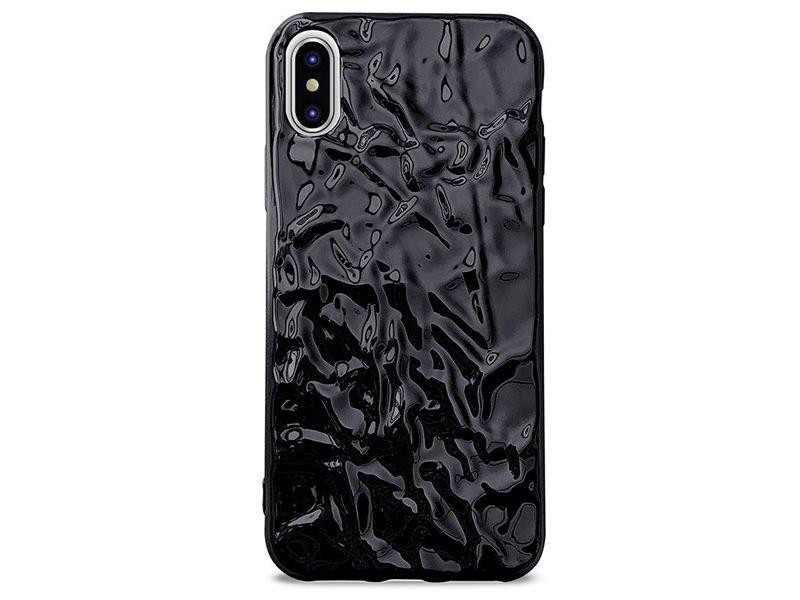 best service a6a74 07cf9 Etui PURO Glam Metal Flex Cover Apple iPhone X/Xs Czarne
