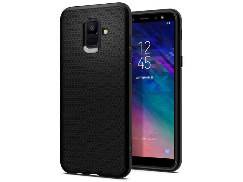 watch 9f57c bd9cd Etui Spigen Liquid Air Samsung Galaxy A6 2018 Black + Szkło
