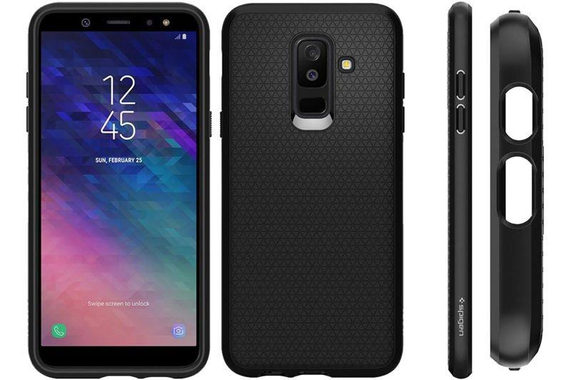 competitive price 70df3 66b15 Etui Spigen Liquid Air Samsung Galaxy A6+ Plus Black