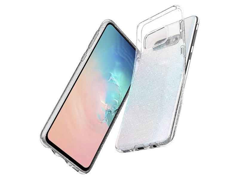Etui Spigen Liquid Crystal Glitter do Samsung Galaxy S10e Crystal Quartz
