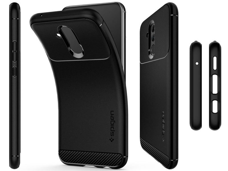 hot sale online e37a3 e4d0c Etui Spigen Rugged Armor Huawei Mate 20 Lite Black +Szkło 3mk Flexible