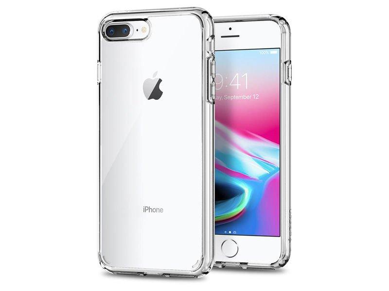 Etui Spigen Ultra Hybrid 2 iPhone 78 Plus Crystal Clear +Szkło Alogy