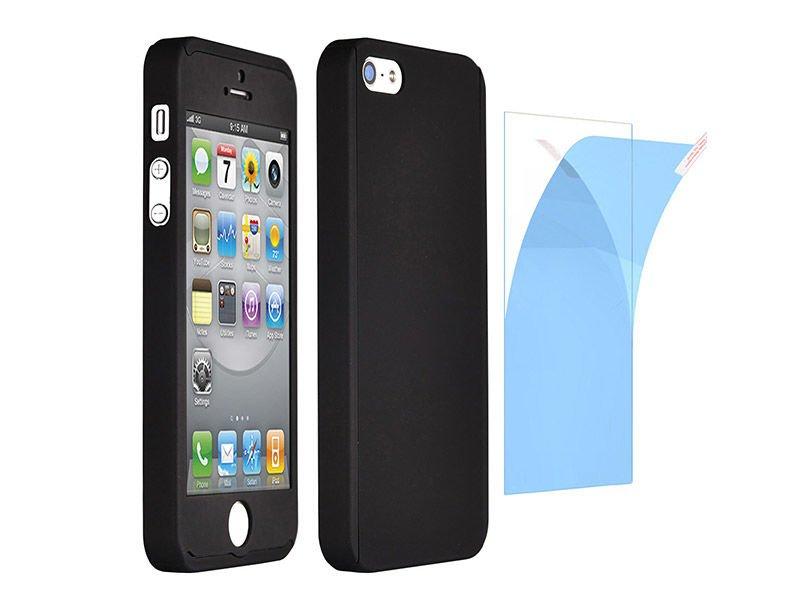etui full case 360 iphone 5 5s se czarne szk o hartowane. Black Bedroom Furniture Sets. Home Design Ideas