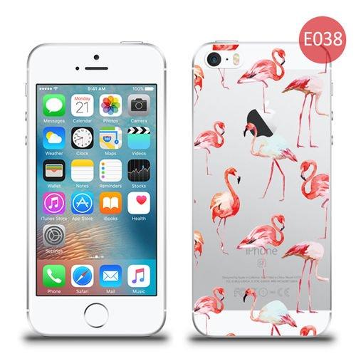 etui silikonowe z nadrukiem iphone 5 5s se flamingi. Black Bedroom Furniture Sets. Home Design Ideas