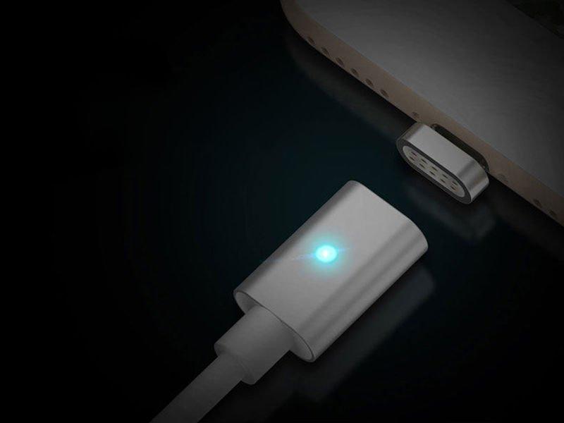 kabel lightning magnetyczny iphone ipad ipod 1m srebrny. Black Bedroom Furniture Sets. Home Design Ideas