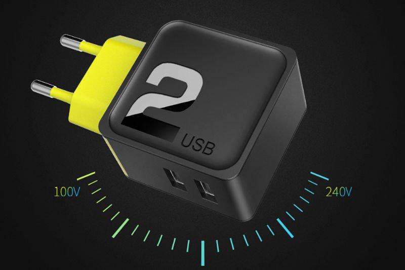 Ładowarka sieciowa Rock Sugar Travel 2 USB 2.4A