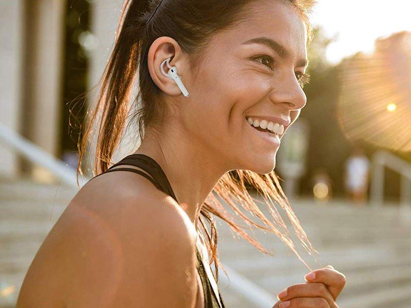 Nakładki silikonowe Earhooks do Apple AirPods przezroczyste