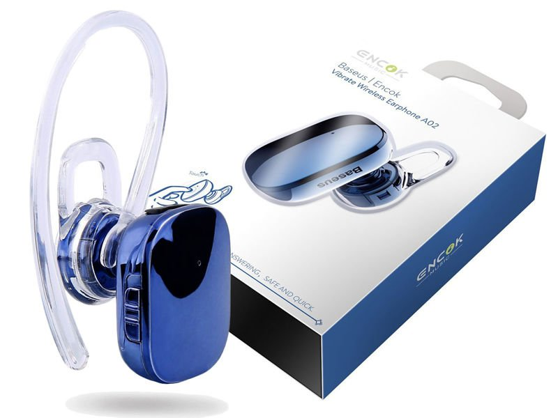 Słuchawka dotykowa bluetooth Baseus Encok mini A02 Blue