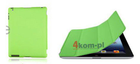 MATOWY ZESTAW SMART + BACK COVER + FOLIA DO IPAD 2 3 4 Zielony