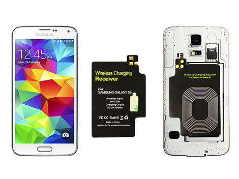 Adapter odbiornik Qi s-view do Samsung Galaxy S5