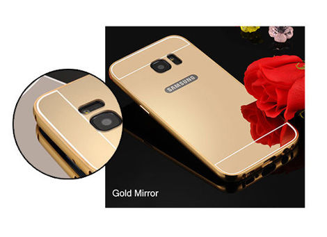ETUI BUMPER PLECKI MIRROR DO GALAXY S7 ZŁOTE