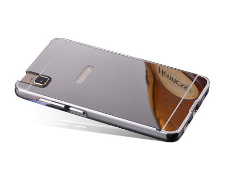 ETUI BUMPER PLECKI MIRROR DO HUAWEI HONOR 7I / SHOT X Srebrne
