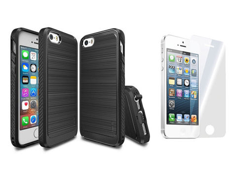 ETUI REARTH RINGKE ONYX BLACK DO IPHONE SE/ 5/ 5S