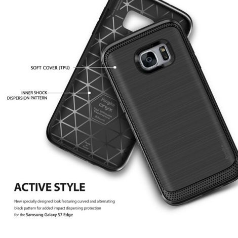 ETUI REARTH RINGKE ONYX DO SAMSUNG GALAXY S7 EDGE + SZKŁO