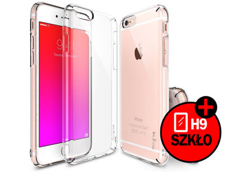 ETUI REARTH RINGKE SLIM DO IPHONE 6/ 6S CRYSTAL + SZKŁO