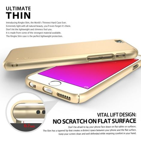 ETUI REARTH RINGKE SLIM DO IPHONE 6/ 6S ROYAL GOLD + SZKŁO