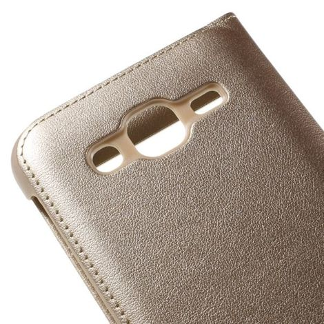 ETUI S VIEW (Dual View) FLIP COVER DO SAMSUNG GALAXY J5 Złote