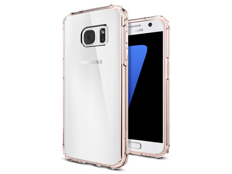 ETUI SPIGEN CRYSTAL SHELL SAMSUNG GALAXY S7 ROSE CRYSTAL