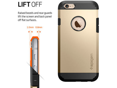 ETUI SPIGEN TOUGH ARMOR IPHONE 6S BLACK