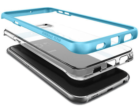 ETUI Spigen SGP Neo Hybrid Crystal do Samsung Galaxy S6 edge + Plus Blue Topaz