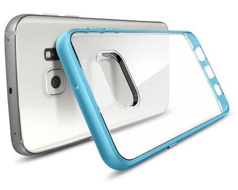 ETUI Spigen SGP Neo Hybrid Crystal do Samsung Galaxy S6 edge + Plus Blue Topaz + Szkło 3D