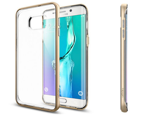 ETUI Spigen SGP Neo Hybrid Crystal do Samsung Galaxy S6 edge + Plus Champagne Gold