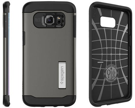 ETUI Spigen SGP Slim Armor do samsung galaxy S6 edge + Plus GUNMETAL