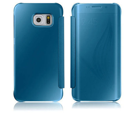 Etui CLEAR VIEW COVER SAMSUNG GALAXY S6 Edge niebieskie