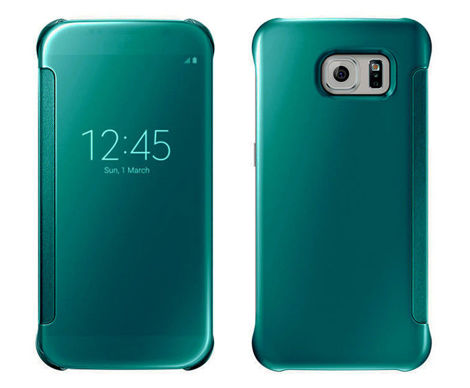 Etui CLEAR VIEW COVER SAMSUNG GALAXY S6 zielone