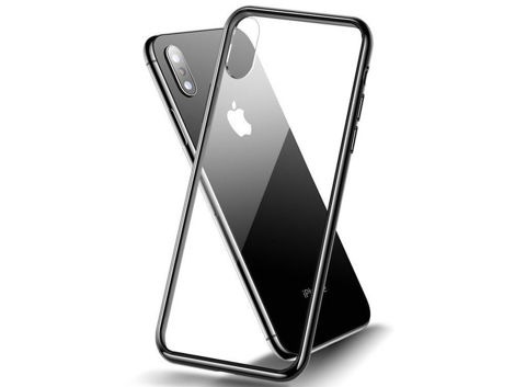 Etui Cafele Slim Glass Case Apple iPhone X/Xs czarne