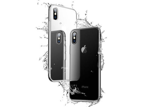 Etui Cafele Slim Glass Case Apple iPhone X/Xs czarne + Szkło Alogy
