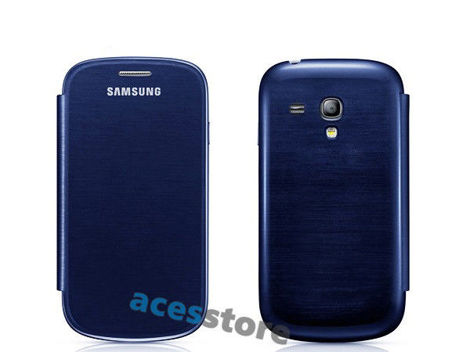 Etui Flip Cover do Samsung Galaxy S3 Mini Granatowe