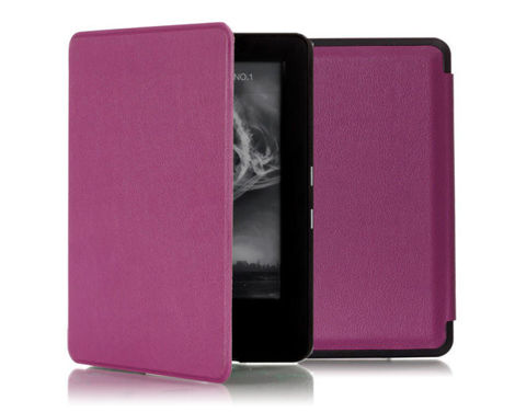 Etui Kindle Touch 7 2014 Skóra Sleep/Wake fioletowe