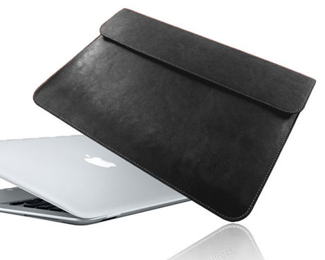 "Etui Koperta skórzane do Macbook Air 13,3"" Czarne"