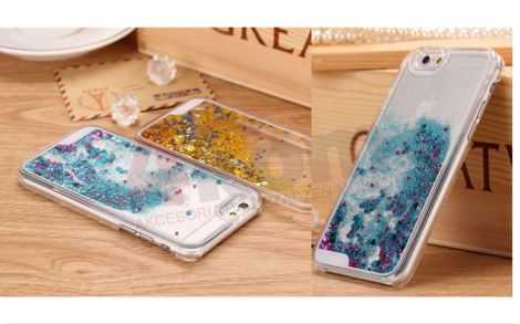 Etui Liquid Stars Gwiazdki do Apple iPhone 6/6s RÓŻOWE