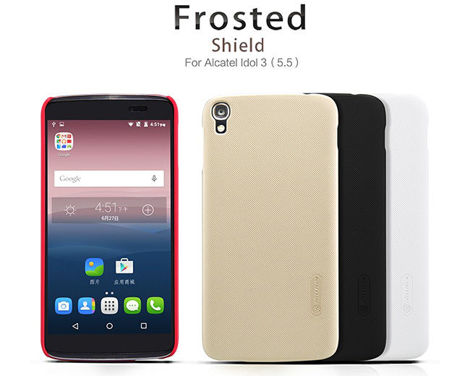 Etui Nillkin Frosted Alcatel One Touch Idol 3 (5.5) + FOLIA Czerwone