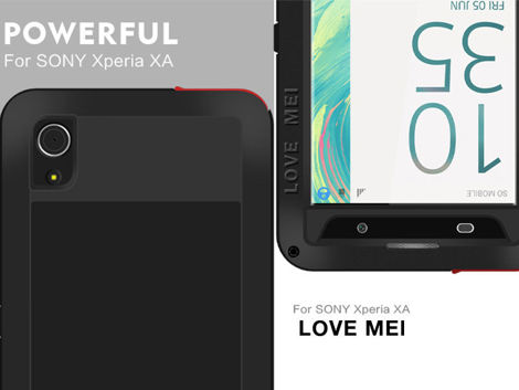 Etui Pancerne Love Mei Powerful Sony Xperia XA czarne