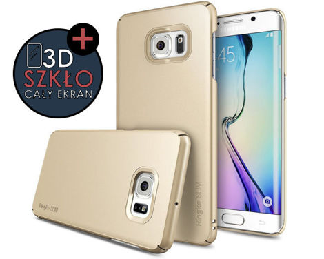 Etui Rearth Ringke Slim Samsung Galaxy S6 Edge+ [Plus] Royal Gold + Szkło 3D