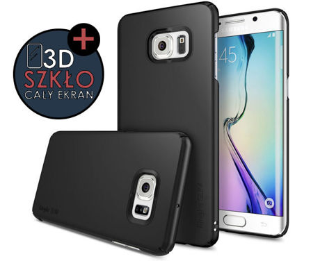 Etui Rearth Ringke Slim Samsung Galaxy S6 Edge+ [Plus] SF Black + Szkło 3D
