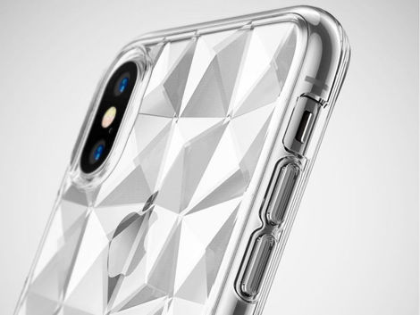 Etui Ringke Air Prism Apple iPhone X/Xs Clear + Szkło 3mk FG