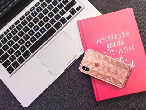 Etui Ringke Air Prism Apple iPhone X/Xs Rose Gold + Szkło 3mk FG