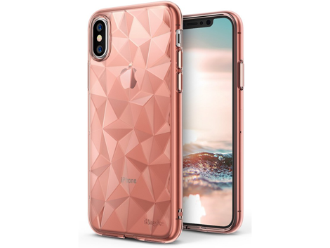 Etui Ringke Air Prism Apple iPhone X/Xs Rose Gold + 3xSzkło Ringke ID
