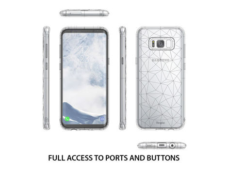 Etui Ringke Air Prism Samsung Galaxy S8 Crystal View + Szkło