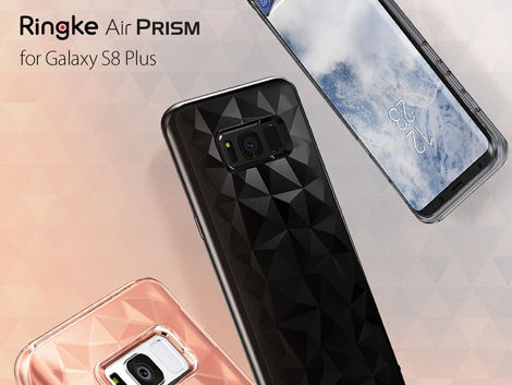 Etui Ringke Air Prism Samsung Galaxy S8+ Plus Ink Black +Szkło