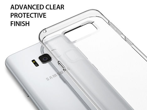 Etui Ringke Air Samsung Galaxy S8+ Plus Crystal View + Szkło
