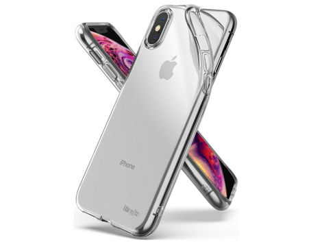 Etui Ringke Air do Apple iPhone X/Xs Clear + 2x Folia Ringke