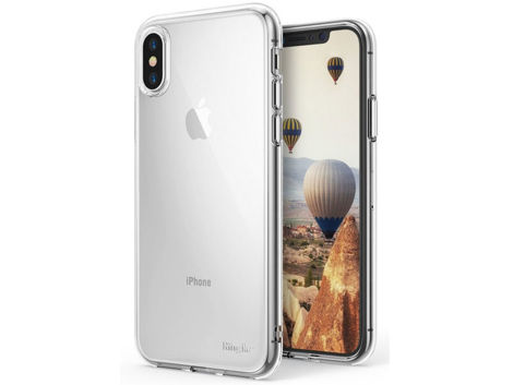 Etui Ringke Air do Apple iPhone X/Xs Clear + 3xSzkło Ringke ID
