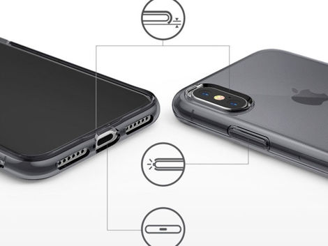 Etui Ringke Air do Apple iPhone XS Max Smoke Black + 3x Szkło Invisible
