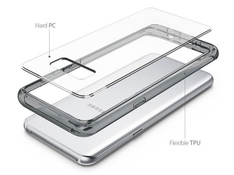 Etui Ringke Fusion Samsung Galaxy S8 Clear View + Szkło